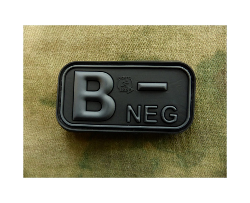 Nášivka Bloodtype Rubber Patch B Neg Blackops