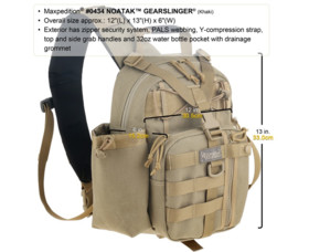 Batoh na notebook Maxpedition Noatak Gearlinger